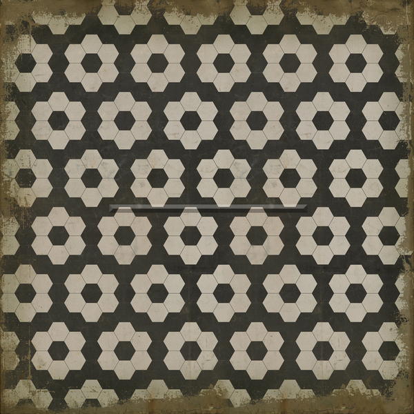 black and white honeycomb patterned floor