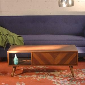 Wood mid century modern style media cabinet