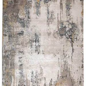 Grey and brown patterned rug