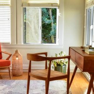 Teak wood desk and chair