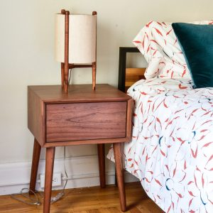 Mid century wooden aide table
