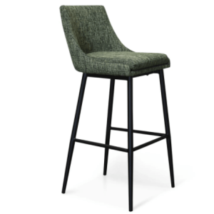 Grey mid century modern stool chair