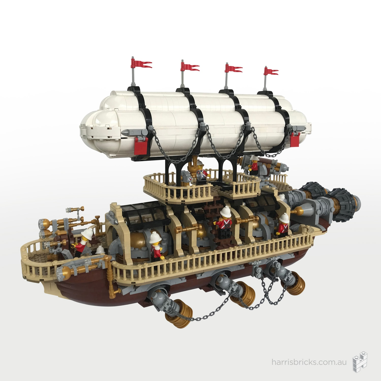 LEGO Steampunk Ship Imperial Airship Bricktania