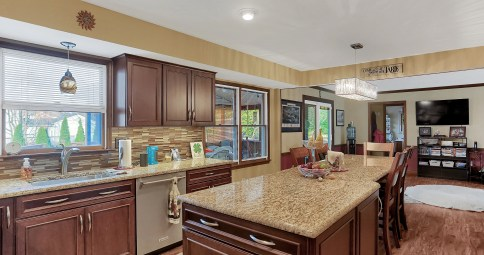 Kitchen Remodel with Expansive Island