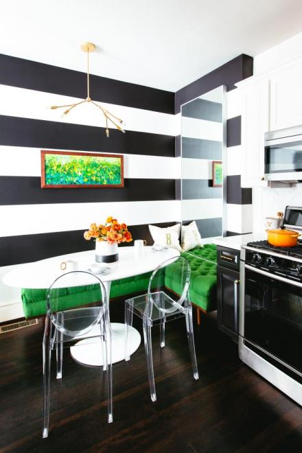 Horizontal Stripes in Eat-in Kitchen