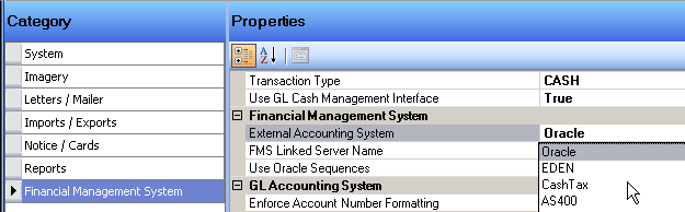 accounting system external