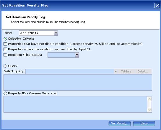 Rendition Penalty Processing, Assigining Penalties to Props, 9034x, 002