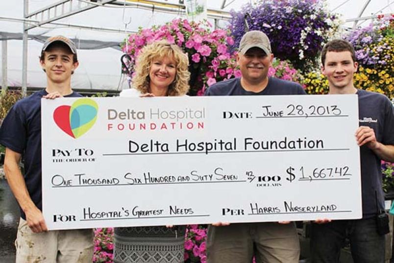 harris nurseryland delta hospital foundation fundraiser