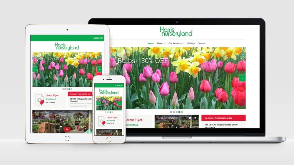 harris nurseryland new website