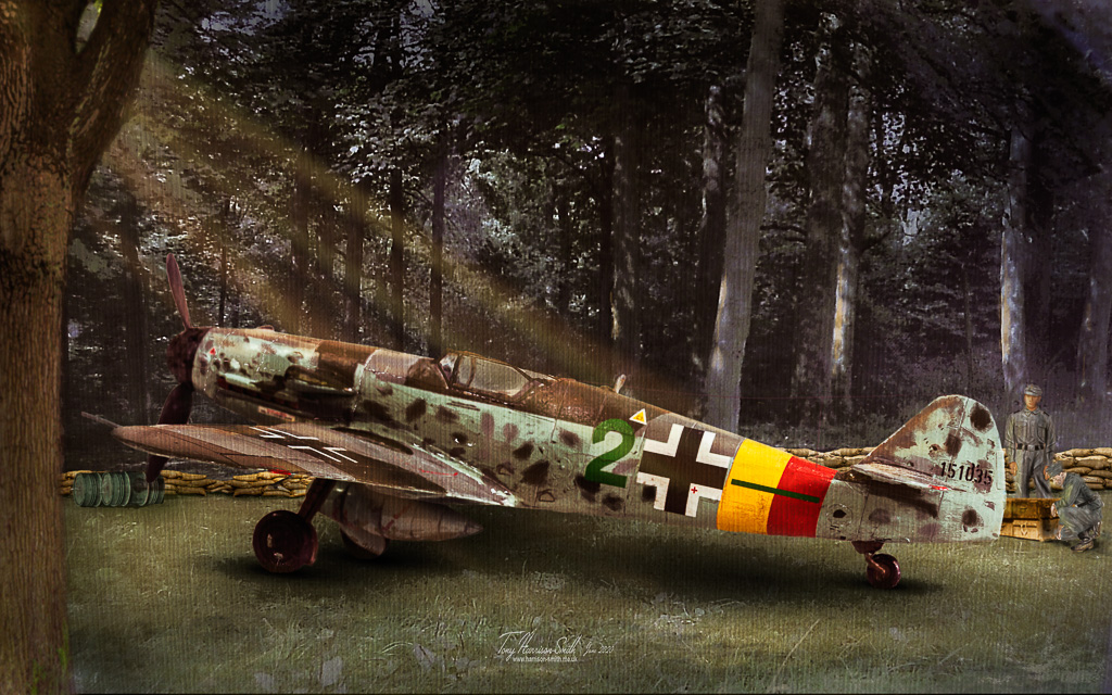 BF-109G in trees