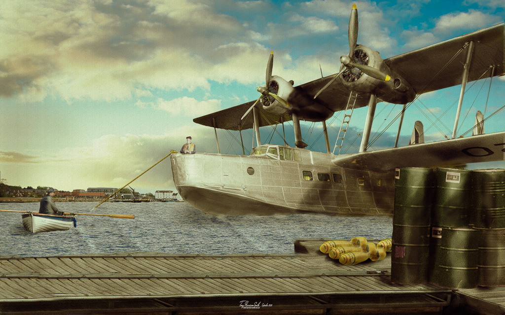 Aircraft at a dock