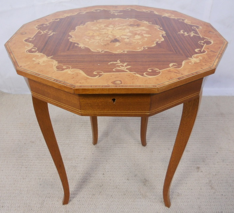 retro dining table chairs uk x rocker pedestal gaming chair setup inlaid walnut music box with lift up lid and storage - sold