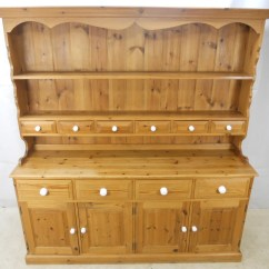 Retro Metal Kitchen Cabinets Compact Appliances For Small Kitchens Large Pine Welsh Dresser Cupboard - Sold
