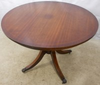 Regency Style Round Mahogany Extending Dining Table to ...