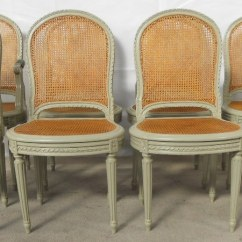 Bergere Dining Chairs Book Chair Stand Set Of Eight French Painted Sold 1729 P Jpg