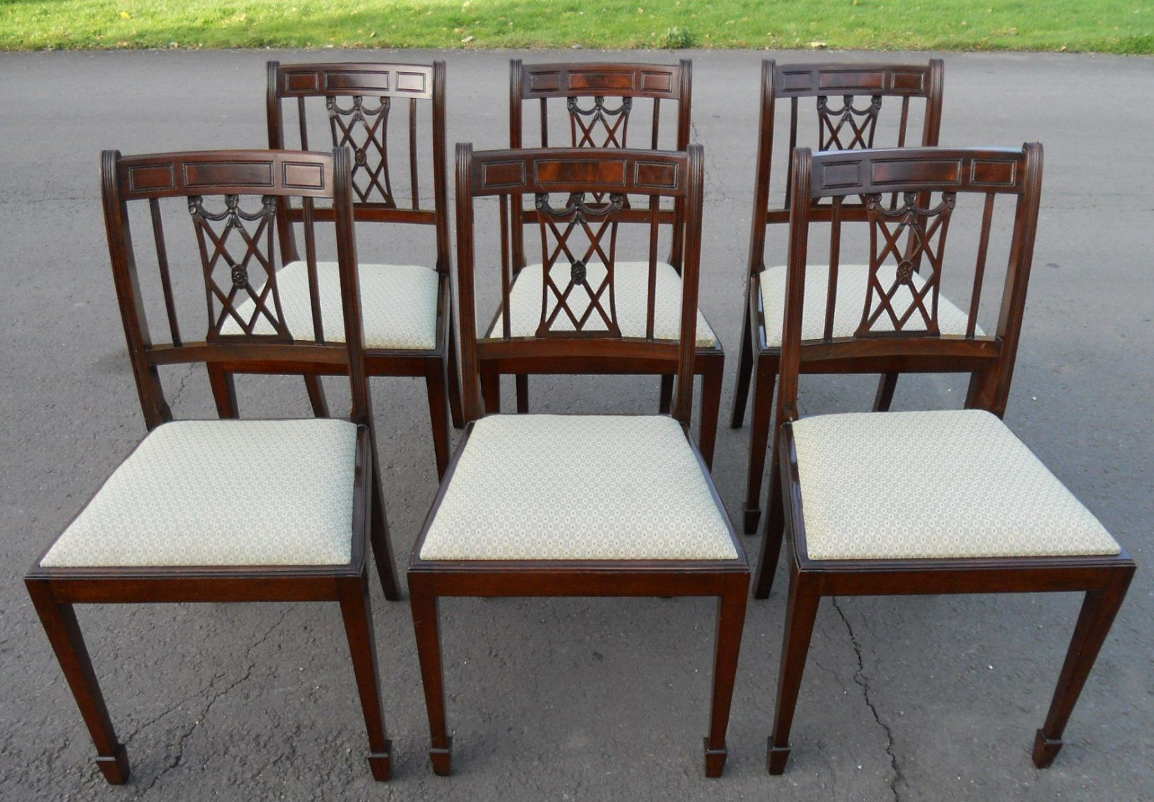 dining chair styles antique large fishing set of eight mahogany style chairs sold