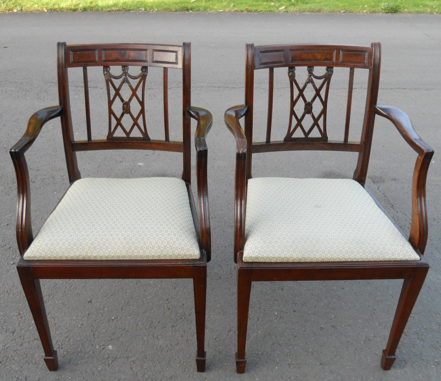 dining chair styles antique baby high donation set of eight mahogany style chairs sold