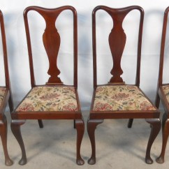 Queen Anne Style Chairs Peppa Pig Table And Set Of Four Mahogany Dining Sold 1439 P Jpg