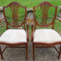 Dining Chair Styles Antique Wedding Covers With Arms Set Of Six Style Mahogany Shield Back