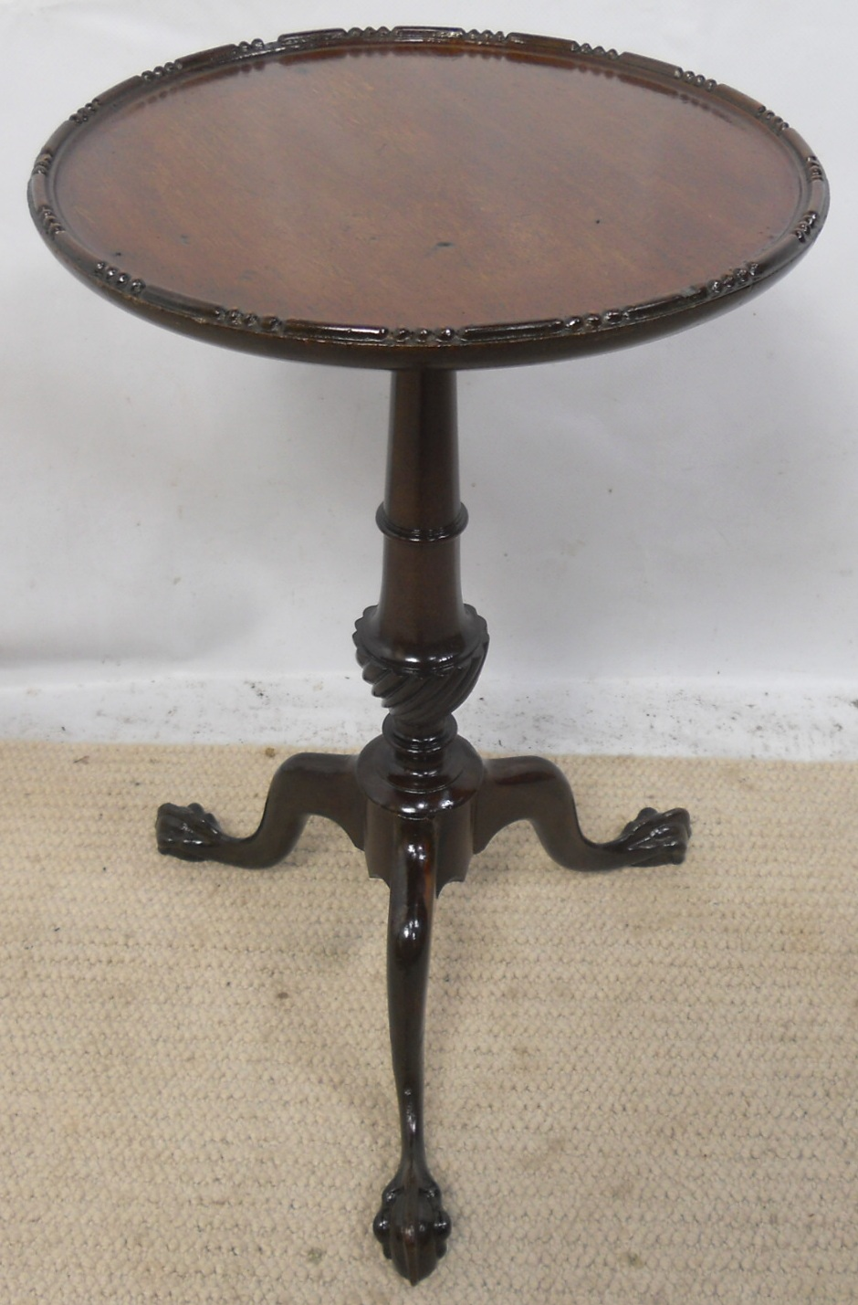 Small Mahogany Tripod Pedestal Wine Table