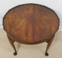 SOLD - Round Walnut Coffee Table