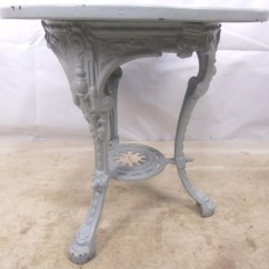 White Outside Chairs Hammock Swing Chair Stand Diy Victorian Cast Iron Painted Pub Table - Sold