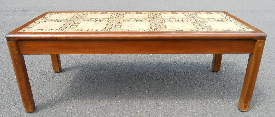 walnut long tile top coffee table by nathan