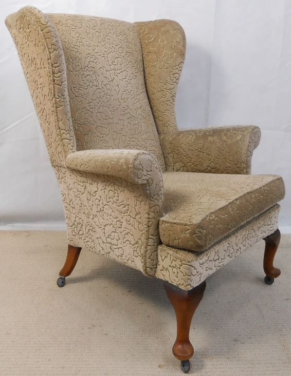affordable upholstered dining chairs extra large potty chair wingback fireside armchair by parker knoll - sold
