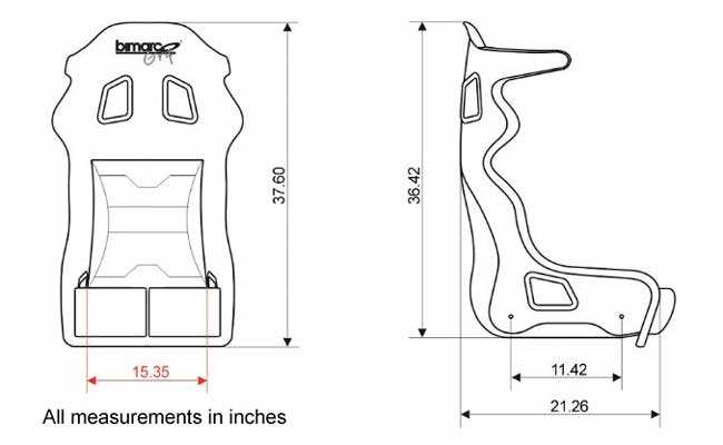 Bimarco Grip FIA Homologated Racing Seat AT Harrison
