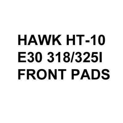 Hawk Performance HT-10 Brake Pads, BMW E30 318/325 (1984