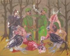 'La Forêt' by M. Harrison-Priestman - acrylic on linen, 80 x 100 cm, 2107.
