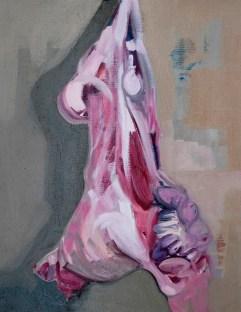 'Étude de la carcasse no:2' by M. Harrison-Priestman - oil on linen, 45 x 35 cm, 2019.