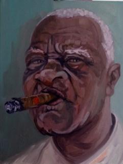 'Le Cubain no:2' by M. Harrison-Priestman - oil on linen, 45 x 35 cm, 2019.
