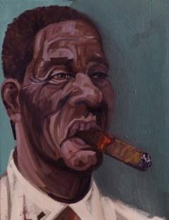 'Le Cubain no:3' by M. Harrison-Priestman - oil on linen, 45 x 35 cm, 2019.