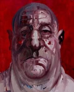 'Homme Gros' by M. Harrison-Priestman - oil on linen, 45 x 60 cm, 2019.