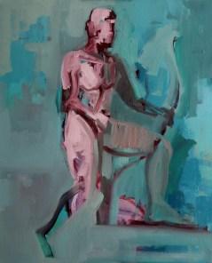 'L'archer' by M. Harrison-Priestman - oil on linen, 60 x 50 cm, 2019.