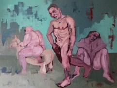 'Trois baigneurs' by M. Harrison-Priestman - oil on linen, 60 x 80cm, 2019.