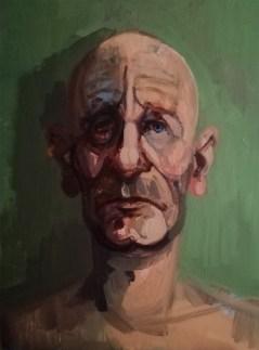 'Étude de tête' by M. Harrison-Priestman - acrylic on canvas, 40 x 30 cm, 2020.