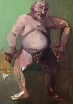Étude des nuances de Bacchus' by M. Harrison-Priestman - acrylic on canvas, 40 x 30 cm, 2020.