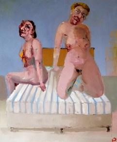 'Les amoureux' by M. Harrison-Priestman - oil on linen, 60 x 50 cm, 2020.