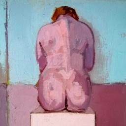 'Études de figures rapides no:2' by M. Harrison-Priestman - oil on linen, 30 x 100 cm, 2020.