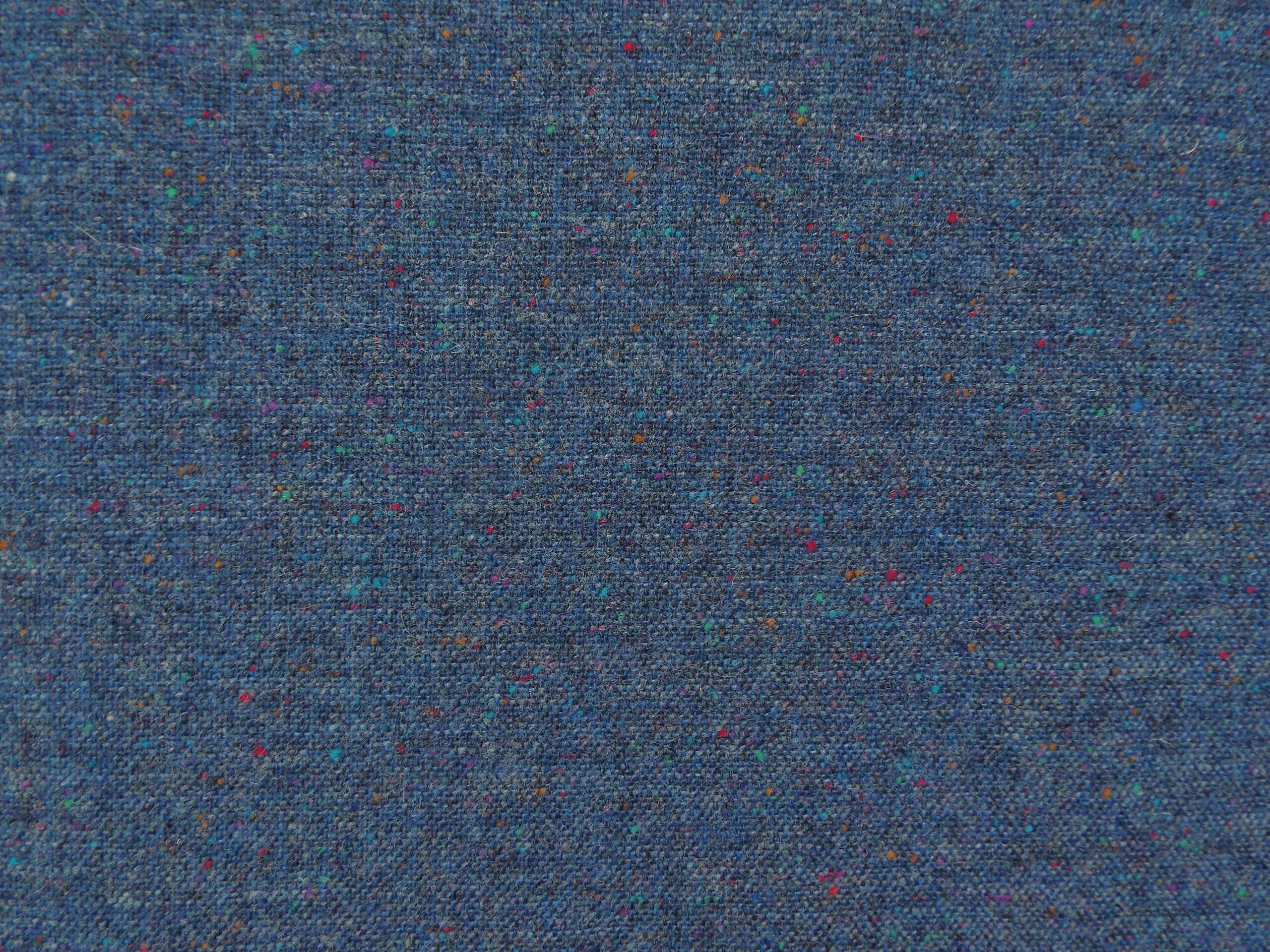 100 Wool Tweed Fabric Mix Blue Pale Blue Donegal Fleck Made In