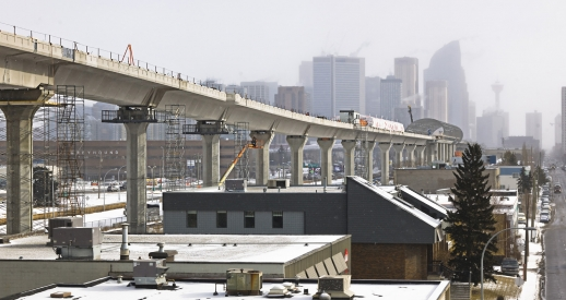 Calgary's newest West LRT. Image: Harris Rebar