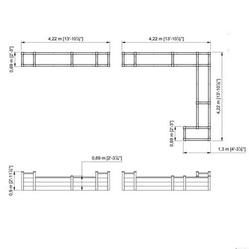 small resolution of superior raised beds corner bespoke design enlarge superior