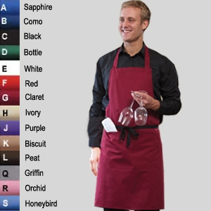 Dennys Full Size Wide Bib Apron With Pocket