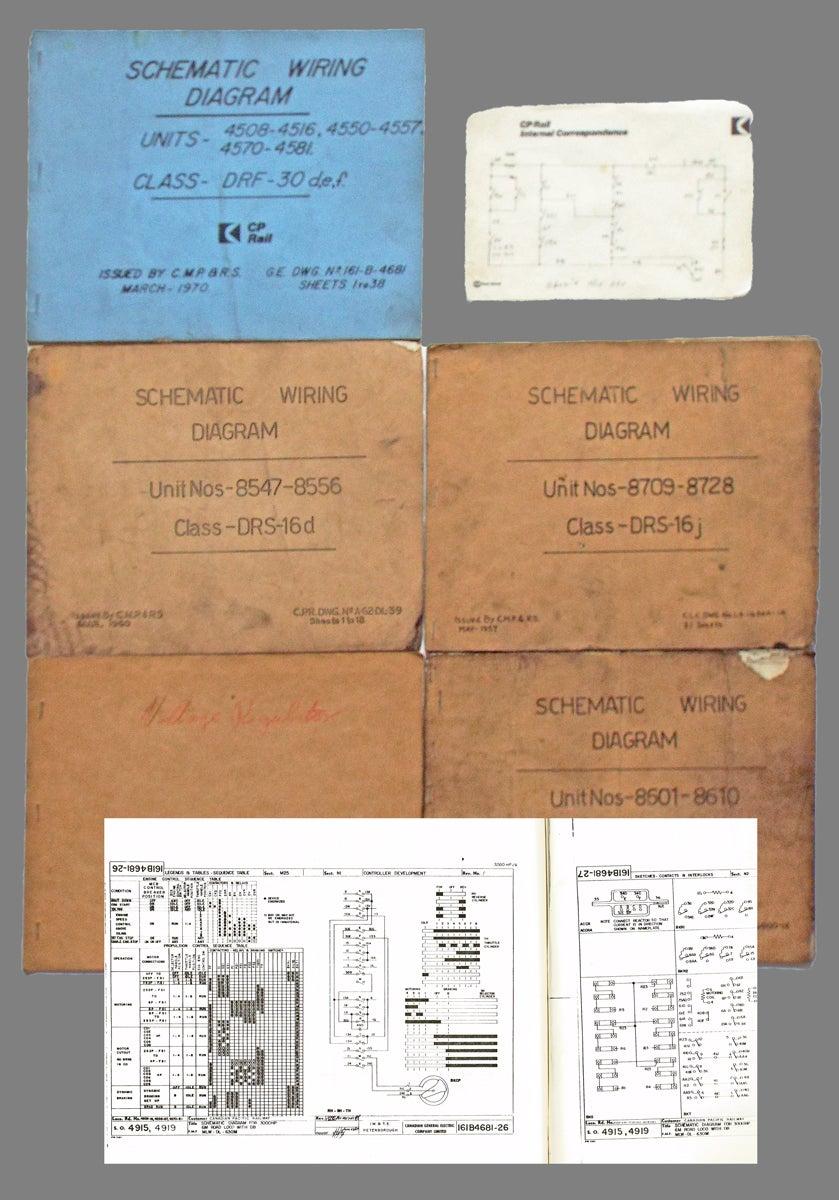 collection of five locomotive schematic wiring  [ 839 x 1200 Pixel ]
