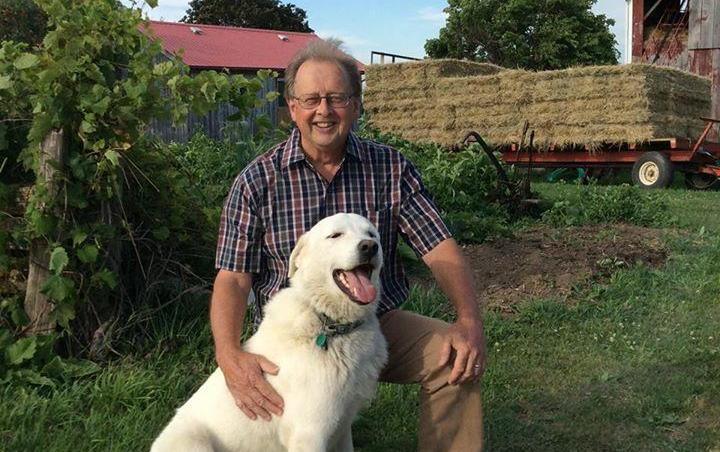 Dan Needles and his dog, Dexter