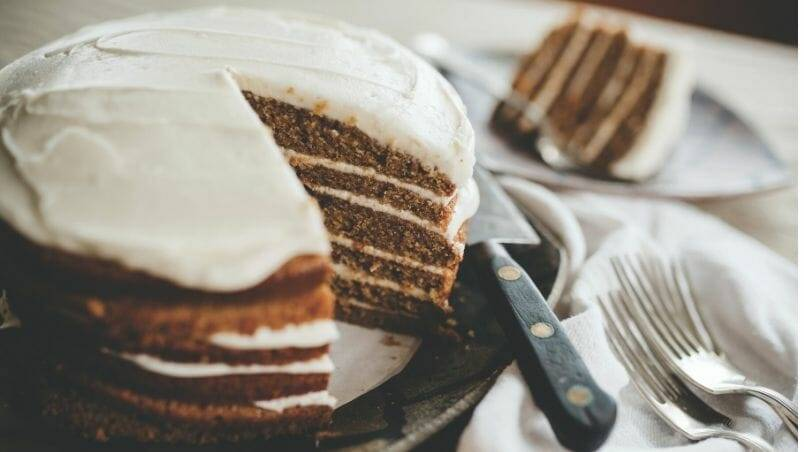 Sweet Potato Cake with Smoky Maple Frosting