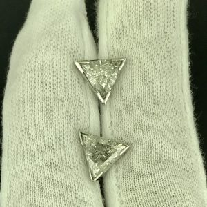 Harry Glinberg Jewelers - Trillion Cut Diamond Earrings