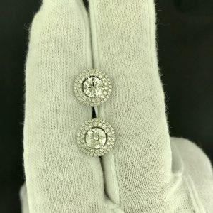 Harry Glinberg Jewelers - Diamond Earrings with Double Halo Jacket